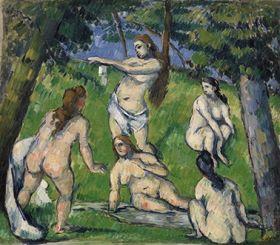 Paul Cézanne - Five Bathers (Cinq baigneuses)