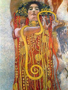Hygeia - Gustav Klimt - reprodukcja