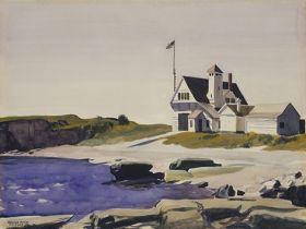 Stacja Straży Przybrzeżnej, Dwa Światła, Maine - Edward Hopper - reprodukcja