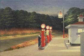Stacja benzynowa (Gaz) - Edward Hopper - reprodukcja
