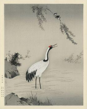 Japoński żuraw - magnes