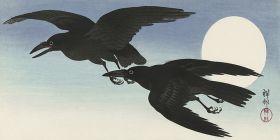 Wrony w pełni księżyca - magnes