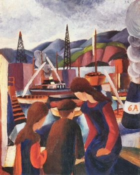 Dzieci w porcie, August Macke - magnes