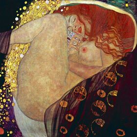 Danae, Gustav Klimt - magnes