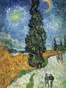 Droga z cyprysem i gwiazdą, Vincent Van Gogh - magnes