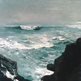 Cannon Rock, Winslow Homer - magnes