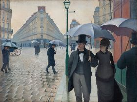 Ulica Paryża; deszczowy dzień, Gustave Caillebotte - magnes