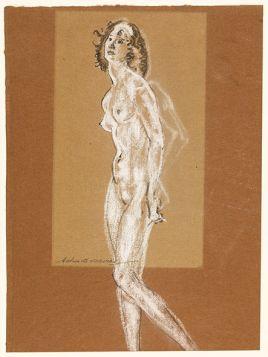 Standing Female Nude, Arthur B. Davies - magnes