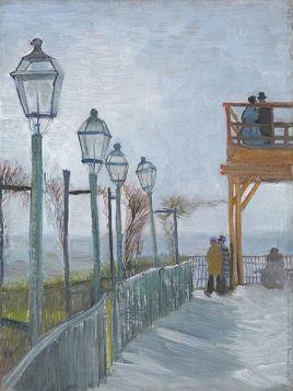Terrace and Observation Deck at the Moulin de Blute-Fin, Montmartre - Vincent van Gogh