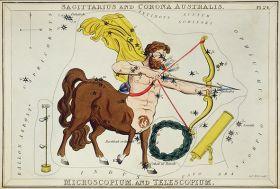 Mapa astronomiczna, Strzelec - plakat 40x27 cm