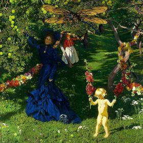 Dziwny ogród - Józef Mehoffer - reprodukcja