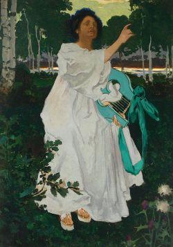 Muza - Józef Mehoffer - reprodukcja