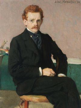Portret własny - Józef Mehoffer - reprodukcja