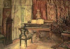 Wnętrze salonu na krupniczej  - Józef Mehoffer - reprodukcja