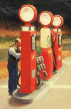 Stacja benzynowa (Detal) - Edward Hopper - reprodukcja
