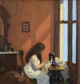 Dziewczyna przy maszynie do szycia - Edward Hopper - reprodukcja