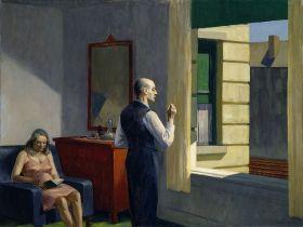 Hotel przy linii kolejowej  - Edward Hopper - reprodukcja