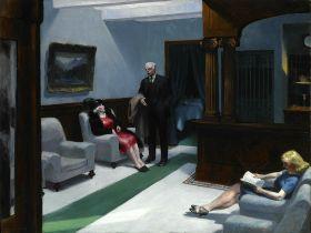 Lobby hotelowe -  Edward Hopper - reprodukcja