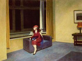 Okno hotelu - Edward Hopper - reprodukcja