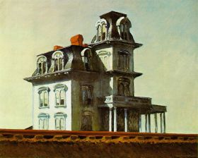 Dom przy kolei - Edward Hopper - reprodukcja
