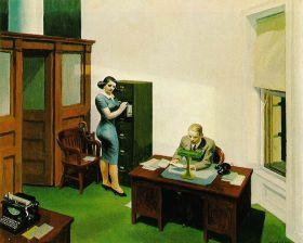 Biuro w nocy - Edward Hopper - reprodukcja