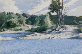 Biała Rzeka w Sharon - Edward Hopper - reprodukcja