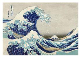 Wielka fala w Kanagawie, Hokusai - kartka premium
