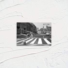 Kartka pocztowa - Malowanie pasów