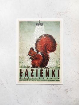 Kartka pocztowa - Warszawa, Łazienki (Polska Szkoła Plakatu)