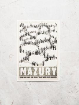 Kartka pocztowa - Mazury, Zima (Polska Szkoła Plakatu)