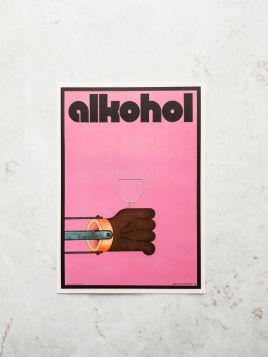 Kartka pocztowa -  Alkohol (Polska Szkoła Plakatu)