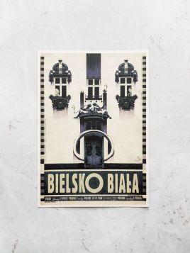 Kartka pocztowa -  Bielsko Biała (Polska Szkoła Plakatu)