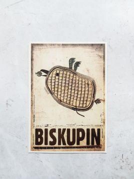 Kartka pocztowa -  Biskupin (Polska Szkoła Plakatu)