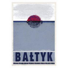 Kartka pocztowa -  Bałtyk (Polska Szkoła Plakatu)