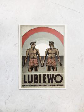 Kartka pocztowa -  Lubiewo (Polska Szkoła Plakatu)