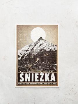 Kartka pocztowa -  Śnieżka (Polska Szkoła Plakatu)