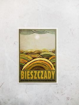 Kartka pocztowa -  Bieszczady (Polska Szkoła Plakatu)