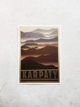 Kartka pocztowa -  Karpaty (Polska Szkoła Plakatu)