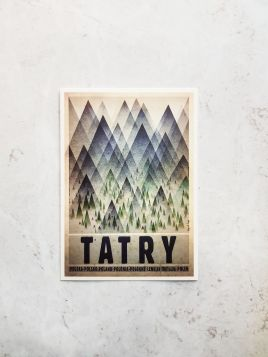 Kartka pocztowa -  Tatry (Polska Szkoła Plakatu)