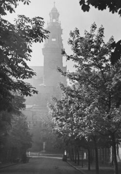 Katedra na Wawelu we mgle - zdjęcie vintage