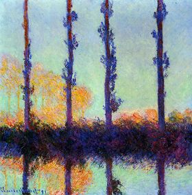 Claude Monet Four Poplars