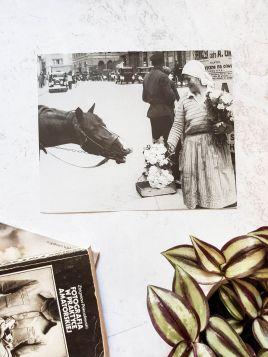 Kwiaciarka z koniem - plakat