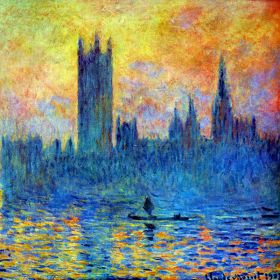 Claude Monet London Parliament in winter
