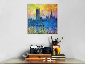 Claude Monet London Parliament in winter