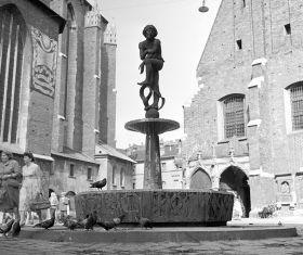 Pomnik Żaka przy Kościele Mariackim - plakat