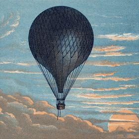 Balon - ilustracja vintage