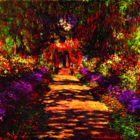 Claude Monet Path in Monets Garden