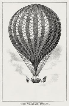 Balon Vauxhall - ilustracja vintage