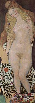 Adam i Ewa - Gustav Klimt - reprodukcja