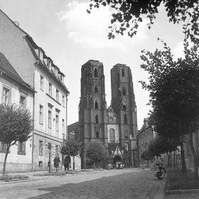 Wrocław - Katedra św. Jana Chrzciciela podczas odbudowy